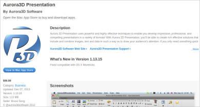 aurora3d presentation for mac