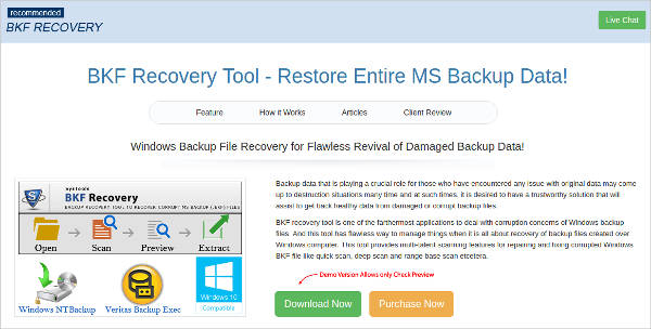 bkf recovery tool