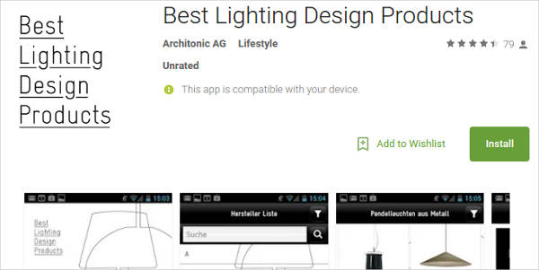 best lighting design products for android