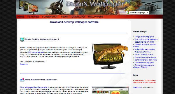 bionix desktop wallpaper most popular software