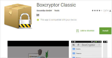 boxcryptor classic for android