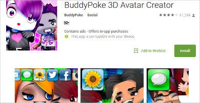 buddypoke 3d for android