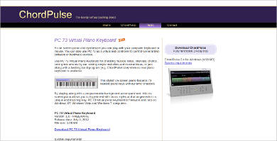 chordpulse pc 73 virtual piano