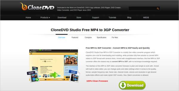 clonedvd studio free mp4 to 3gp converter