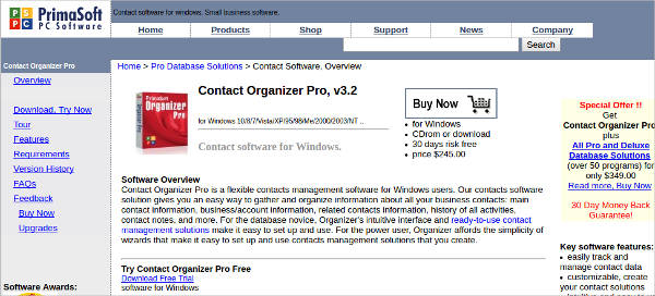 contact organizer pro for windows