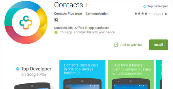 contacts for android