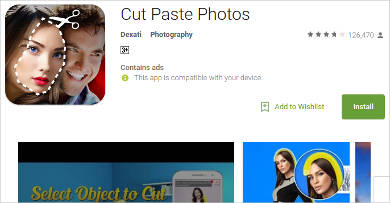 cut paste photos for android