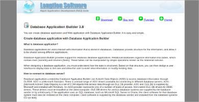 database application builder for windows