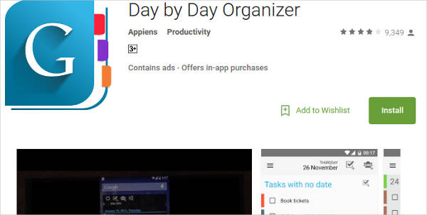 day by day organizer for android
