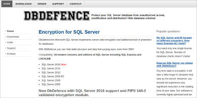 dbdefence for microsoft sql server