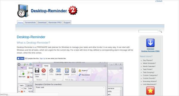 desktop reminder most popular software