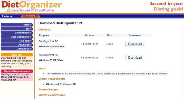 dietorganizer pc