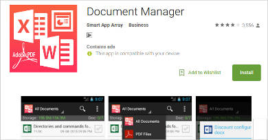 document manager for android