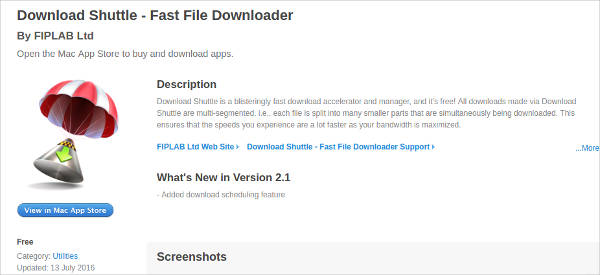 download shuttle for mac