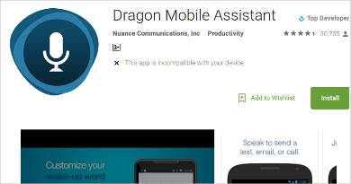 dragon mobile assistant for android