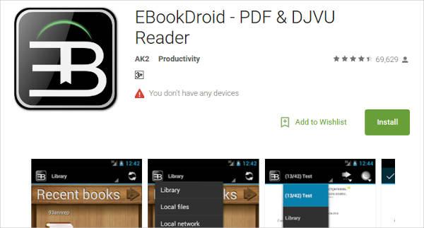 ebookdroid pdf djvu reader for android
