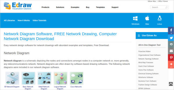 edraw network diagram software for windows
