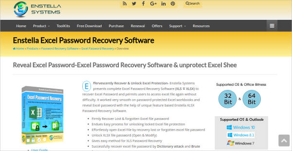 enstella excel password recovery software for mac