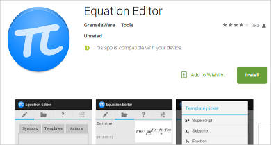 equation editor for android