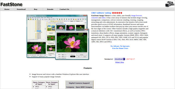 faststone image viewer most popular software