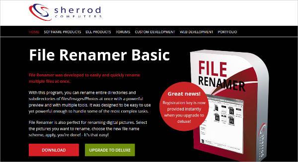 file renamer basic most popular software