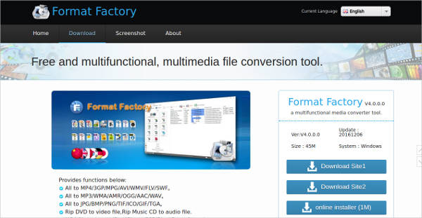 format factory most popular software