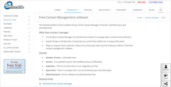 free contact manager