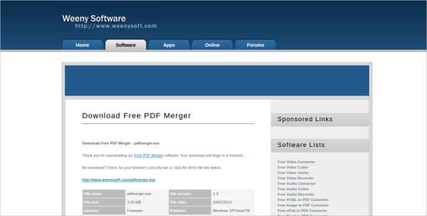 free pdf merger most popular software