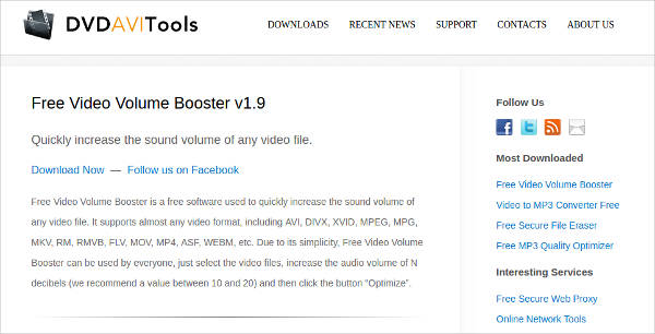 free video volume booster most popular software