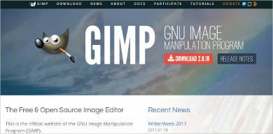 gimp most popular software