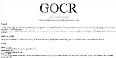 gocr most popular software