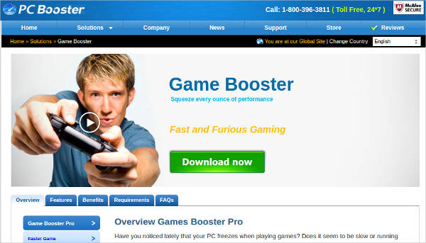 game booster most popular software