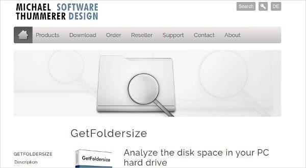get foldersize