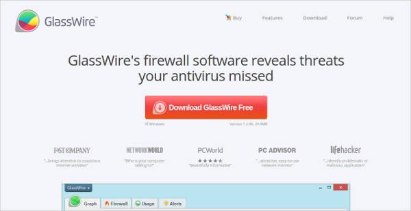 glasswires firewall