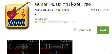 guitar music analyzer free for android