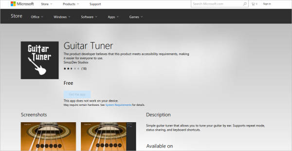 guitar tuner for windows1