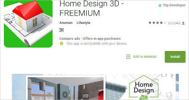home design 3d freemium for android