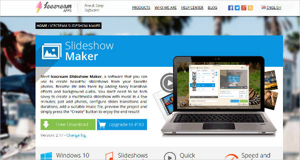 icecream slideshow maker for windows