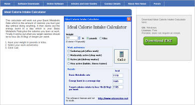 ideal calorie intake calculator