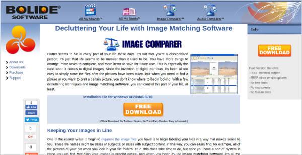image matching software