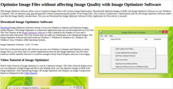 image optimizer software