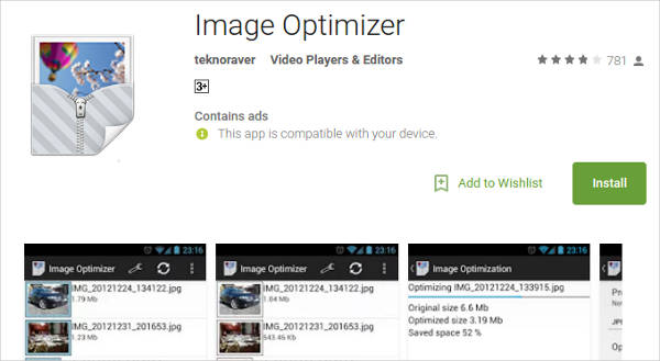 image optimizer for android