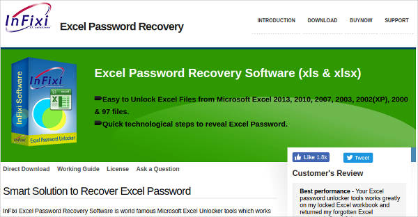 infixi excel password recovery