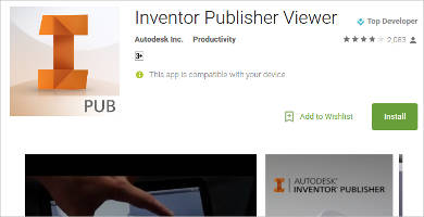inventor publisher viewer for android
