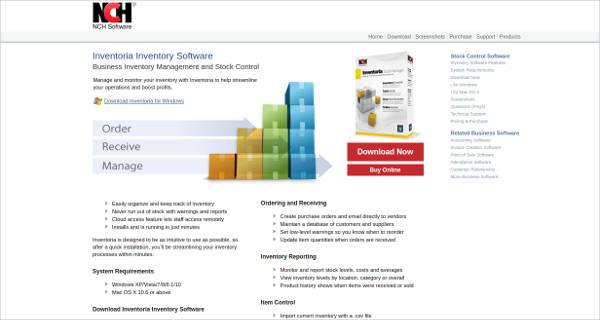 inventoria inventory software