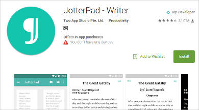 jotterpad writer for android