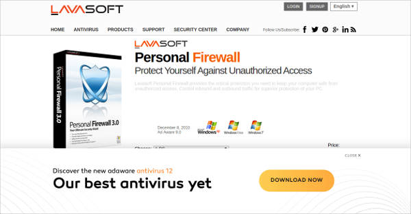 lavasoft personal firewall most popular software1