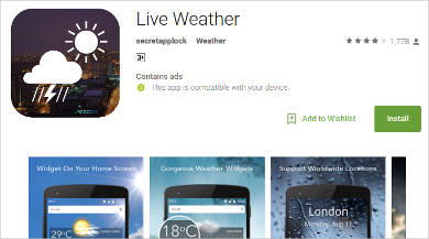 live weather for android
