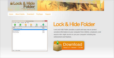 lock and hide folder1