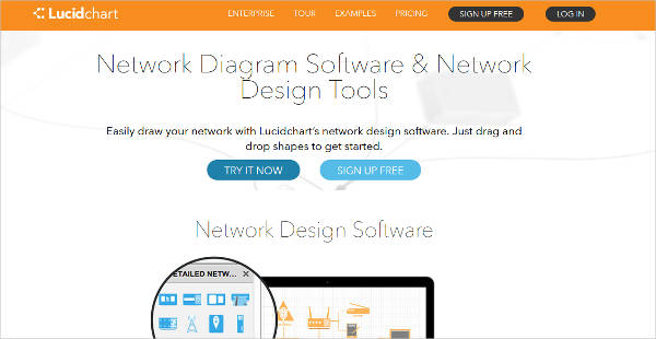 lucidchart network design software